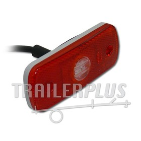 Breedtelamp/ toplamp rood 1 LED 12/ 24 V 109*43 Dasteri