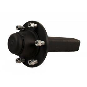 Ongeremde naaf met aseind , langzaamverkeer FAD, 70x300mm,  wielaansluiting 160/205/6