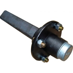Ongeremde naaf met aseind , langzaamverkeer FAD, 80x350mm, wielaansluiting 160/205/6 M18x1.