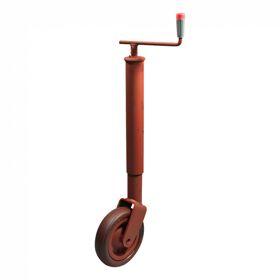 Steunwiel , niet opklapbaar Ø70 wiel met rubber loopvlak Ø250x65 800 gemenied Simol