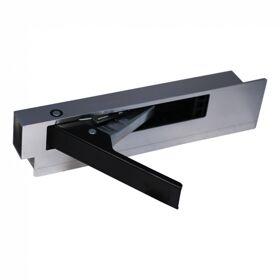 Bordsluiting zijbordsluiting , aluminium met stalen handgreep (zwart) 400mm links