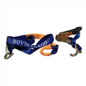 Spanband voor autotransporter met lus voor aluminium velg blauw 35mm 1500mm Novio Cargo