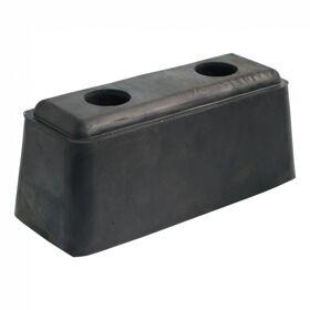 Stootkussen rubber blok stootbuffer rubber 200mm x 80mm x 80mm