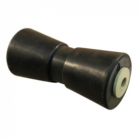 Kielrol met stalen bus rubber zwart Ø85mm 194mm Ø17,5