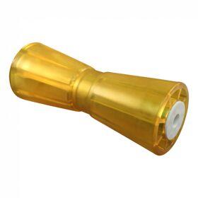 Kielrol PVC geel Ø93mm 259mm Ø17mm