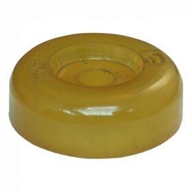 Eindkap polyurethaan geel Ø81mm 20mm Ø17mm