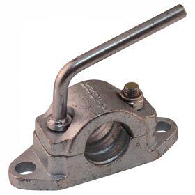 Neuswielklem voor geribbeld neuswiel opschroefbaar Ø48mm verzinkt