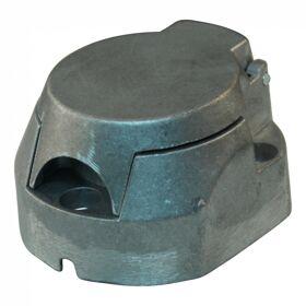 Stekkerdoos aluminium 7 - polig Met mistlamp schakelaar