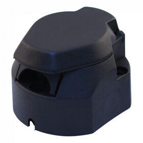kontaktdoos kunststof 7 - polig, rechte zijden