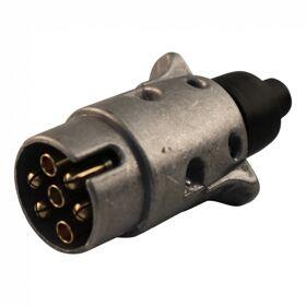stekker 7-polig, aluminium schroefuitvoering, schroef contacten, Menbers