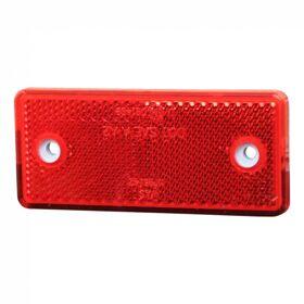 Reflector rood opschroefbaar + zelfklevend 96 x 42mm