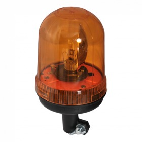 Zwaailamp halogeen lamp 12V55W oranje steekbevestiging, flexibele voet AjBa