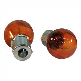 Lampje bol, oranje BA15S 12V 21W oranje per 10 stuks