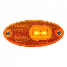 Zijmarkeringslamp WAS 308 , DC kabel 500mm, 2x0,75mm²