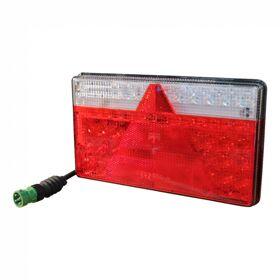 Achterlicht LED Aspöck Multiled II , rechts, 0.5m kabel, 5 x 1mm² 5p bajonet groen 35-0204-067
