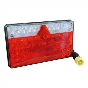 Achterlicht LED Aspöck Multiled II , links, 0.5m kabel, 8 x 1mm² 8p bajonet geel