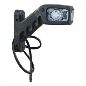 Contourlamp LED WAS 241P rood / wit, rechts, DC kabel 500mm., 2x0,75mm²