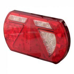 Achterlicht LED Lucidity L26060 12 V , rechts, centrale stekkeraansluiting 8-polig