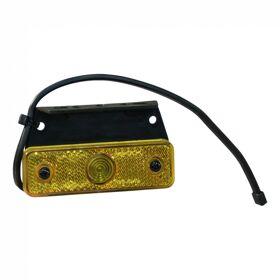 Zijmarkeringslamp  oranje Aspöck Sidepoint incusief montagesteun 90° DC kabel 250mm