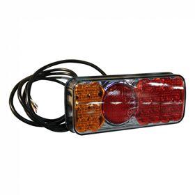Achterlicht WAS 317KR , LED 12V-24V , links en rechts toepasbaar , kabel 1900mm 4 x 0,75mm²