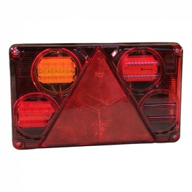 Achterlicht WAS 393 , LED 12V - 24V , links , centrale stekkeraansluiting 5-polig