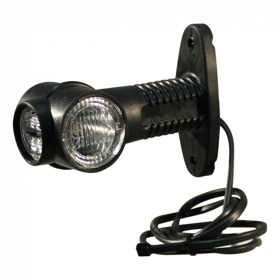 """Markeringslamp Aspöck Superpoint III """"kort"""" DC kabel 1000mm"""