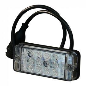 Achterlicht WAS 821 LED12V-24V links en rechts toepasbaar ,kabel 200mm 4 x 0.75mm² + 5p  connector