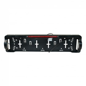 Kentekenplaathouder met kentekenverlichting en derde remlicht Aspöck LED DC 800mm kabel