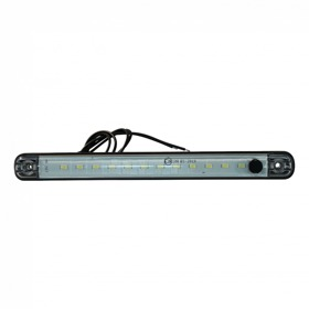 Interieurlamp WAS LW10 238x24.3x12,7 / 20,2 helder wit kabel  0,75mm2 x 0.38m. 12V DC