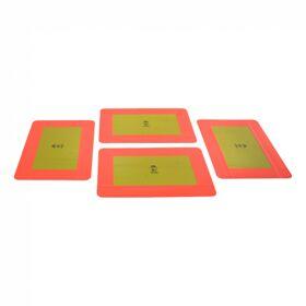 Markeringsbord opleggers >3500kg 566mm x 197mm geel met rode rand