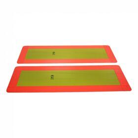 Markeringsbord opleggers >3500kg 197mm x 566mm geel met rode rand