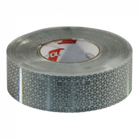 Reflecterende tape >3500kg 50mm x 50mtr wit