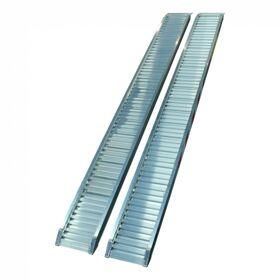 Set oprijplaten recht aluminium 3000 x 300 x 70 max 1085 kg