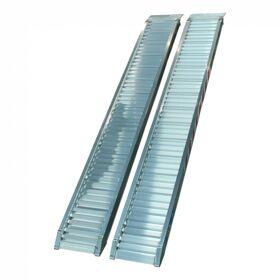 Set oprijplaten recht aluminium 2500 x 300 x 80