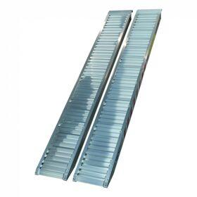 Set oprijplaten recht aluminium 2375 x 300