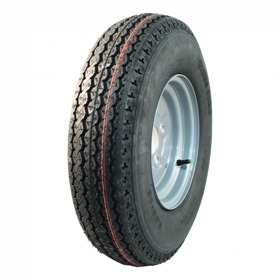 Compleet wiel 5.00-10 KT-715 4PR + 3.50Bx10H2 ET0 85/115/4 72 N staal, grijs, Franse steek