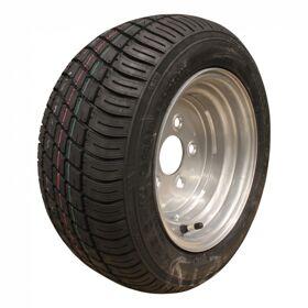 Compleet wiel 18x8.00-10 / 195/50 B10 M-8001 + 6.00Ix10H2 ET-4 67/112/5 98 N staal, grijs