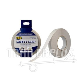 Tape safety grip 25mm 18 mtr semi-transparant