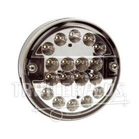 Mistachterlicht LED 140mm 9-33v wit glas