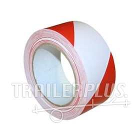 Reflecterende tape rood/wit 50mm  45.7mtr