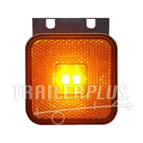 Toplamp markeringslamp led oranje 12/24v 65x65x28 steun WAS