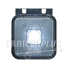 Toplamp led wit 12/24v 65x65x28 steun WAS