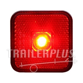 Toplamp led rood 12/24v 65x65x28