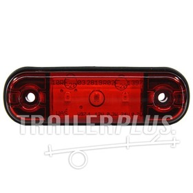 Markeringslamp  rood 3 led 12/24V WAS
