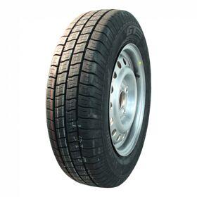 Compleet wiel 155R13 Kargomax ST-6000 M&S + 4Jx13H2 ET30 57/100/4 91/89 N staal, grijs,