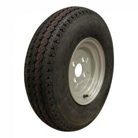 Compleet wiel 5.00-10 KT-715 8PR + 3.50Bx10H2 ET0 85/115/4 84 N staal, grijs, Franse  steek
