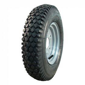 Compleet wiel 4.80/4.00-8 V-6602 6PR + 3.00Dx8 ET0 60/100/4 staal, grijs,