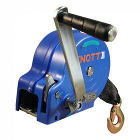 Bootlier handlier Knott 2 snelheden 1100 kg met lierband 7m en haak