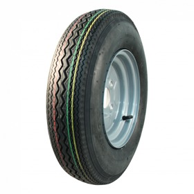 Compleet wiel, velg met band 5.20-10 HF-268 4pr 3.50Bx10H2 ET0 60/100/4 64 M staal, grijs