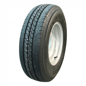 Compleet wiel, velg met band 215 R14C TR-603 M&S 8PR + 5½Jx14H2 ET30 67/112/5 112/116 Q/N staal,